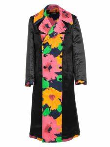 Junya Watanabe Comme Des Garçons Coat High Neck Double Breasted Flower Print