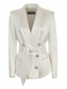 Balmain Blazer Double Breasted W/belt