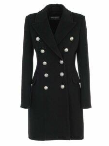 Balmain Coat Double Breasted Wool