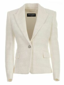 Balmain Blazer One Button Tweed