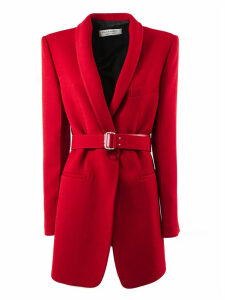 Philosophy di Lorenzo Serafini Red Virgin Wool Blend Longline Blazer