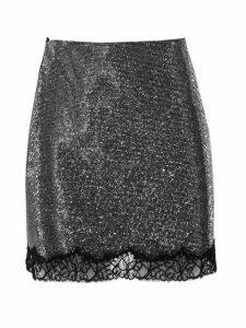 Philosophy di Lorenzo Serafini Silver-tone Lace-hem Skirt