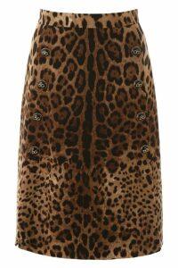 Dolce & Gabbana Buttoned A-line Skirt