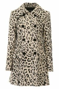Dolce & Gabbana Animalier Faux Fur Coat