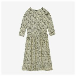 DAHLIA Printed Dress with Long Sleeves