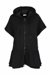 Moncler short-sleeved fleece cardigan