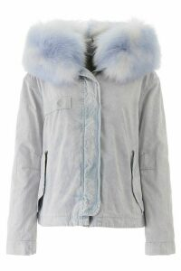 Mr & Mrs Italy Cropped Parka With Fur