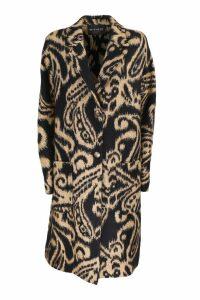 Etro Paisley print coat. Neck