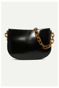 BY FAR - Pelle Large Leather Shoulder Bag - Black
