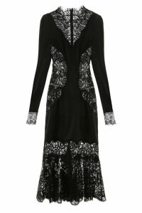 Dolce & Gabbana Satin And Lace Dress