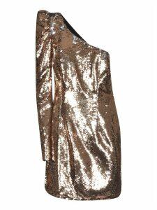 Amen Bicolor Sparkling One-sleeve Dress