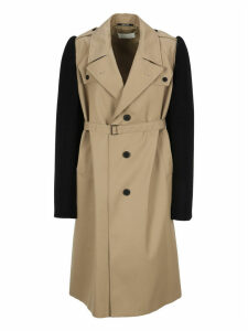 Martin Margiela Colour Block Belted Trench Coat