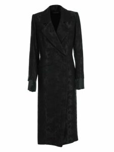 Ann Demeulemeester Trench Jacquard Double Breasted