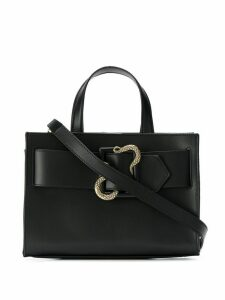 Just Cavalli snake buckle tote bag - Black