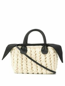 Muun Panier knitted tote bag - Neutrals
