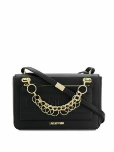 Love Moschino logo chain-detail shoulder bag - Black