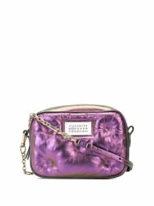 Maison Margiela holographic detail shoulder bag - Purple