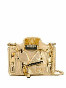 Moschino metallic jacket-style shoulder bag - Gold