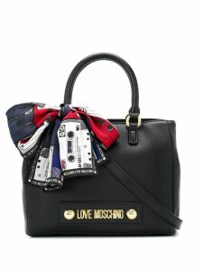 Love Moschino scarf-detail tote bag - Black