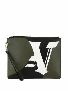 Ports V logo clutch bag - Green