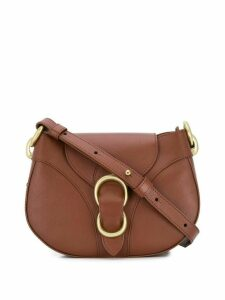 Orciani lotus buckle cross body bag - Brown