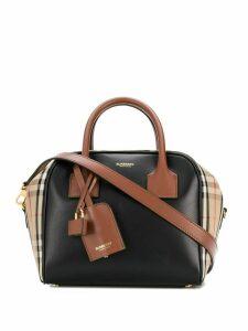 Burberry check print tote bag - Black