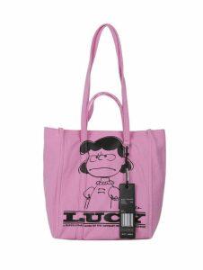 Marc Jacobs Pink Peanuts Tag Tote 27