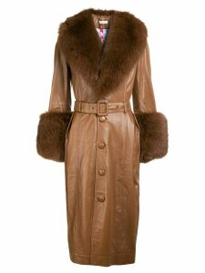 Saks Potts Foxy leather coat - Brown