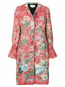 Sachin & Babi Dua printed coat - Red