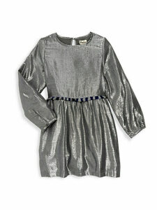 Little Girl's & Girl's Metallic Cotton-Blend Party Dress