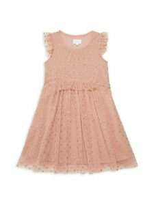 Little Girl's & Girl's Ruffle Mesh Dress