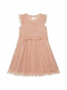 Little Girl's & Girl's Ruffle Mesh Dress