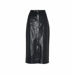 Kitri Jill Mock Croc Midi Skirt