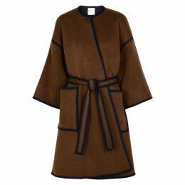 Rosetta Getty Brown And Navy Reversible Wool Coat