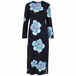 RIXO Amanda Floral-print Silk Midi Dress