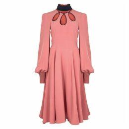 Roksanda Adena Pink Silk Dress