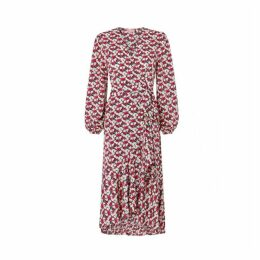 Kitri Anissa Floral Print Wrap Dress