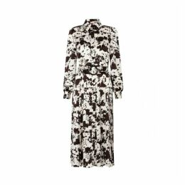 Kitri Tara Cow Print Pleated Shirt Dress