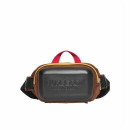Burberry Logo Embossed Panel Nylon Bum Bag