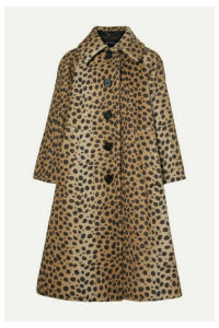 Runway Marc Jacobs - Animal-print Alpaca And Cotton-blend Coat - Tan