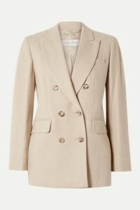 Max Mara - Double-breasted Camel Hair And Cashmere-blend Blazer - Beige
