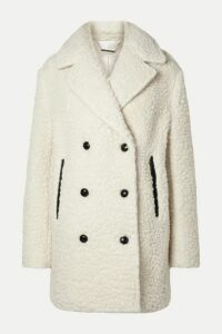 By Malene Birger - Double-breasted Textured Wool-blend Coat - Cream