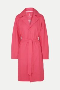 Rains - Belted Matte-pu Trench Coat - Pink