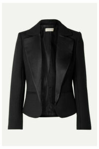 By Malene Birger - Jocelynn Satin Trimmed Twill Blazer - Black