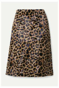 Rokh - Leopard-print Faux Fur Skirt - Leopard print