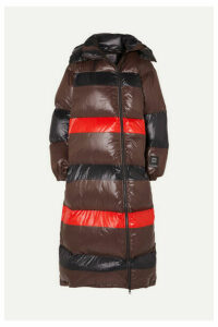 GANNI - + 66 North Askja Hooded Striped Quilted Glossed-shell Down Coat - Black