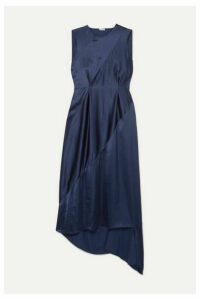Loewe - Tie-detailed Open-back Satin Midi Dress - Navy