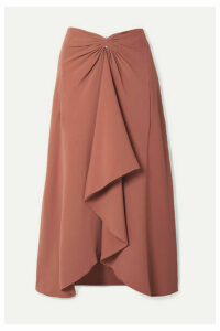 Dion Lee - Embellished Draped Cady Midi Skirt - Bronze