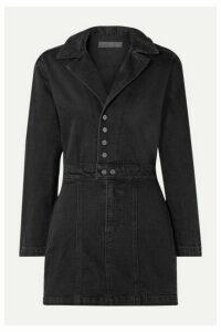 GRLFRND - Margo Denim Mini Dress - Black