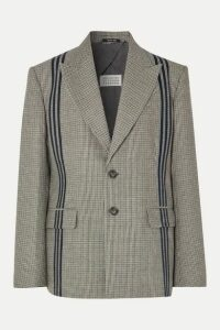 Maison Margiela - Oversized Striped Houndstooth Wool Blazer - Gray